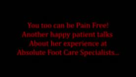 Testimonial - Foot Treatment and Orthotics