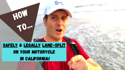How To Lane Split Safely & Legally On Your Motorcycle in CA