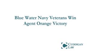Navy Veterans Win Agent Orange Victory | Cuddigan Law