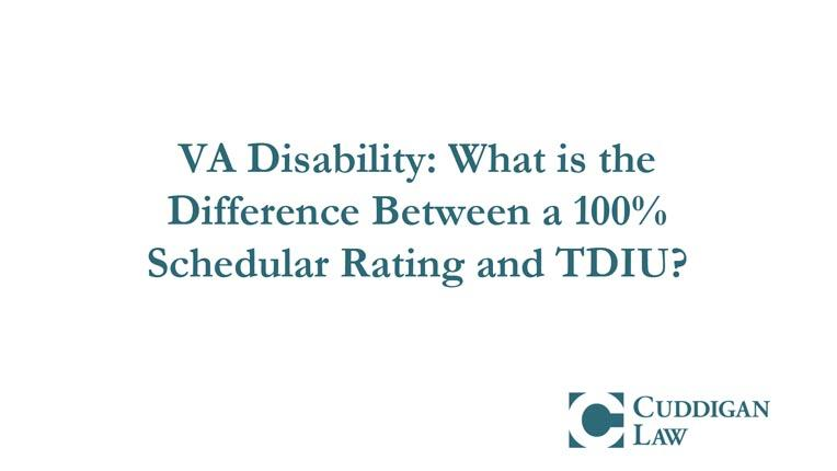 What is the Difference Between a 100% VA Schedular and TDIU