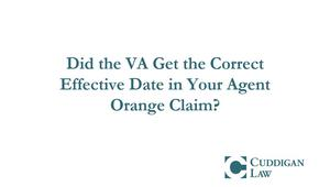 Did the VA Get the Correct Date in Your Agent Orange Claim