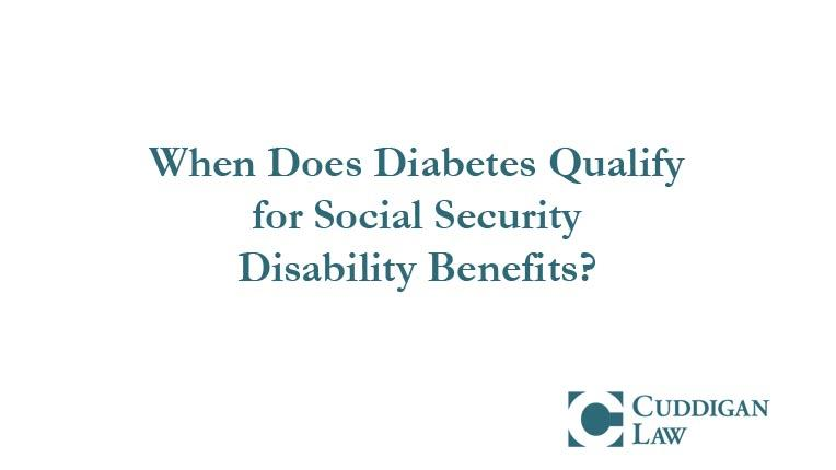 patients could get ssdi for diabetes and its complications