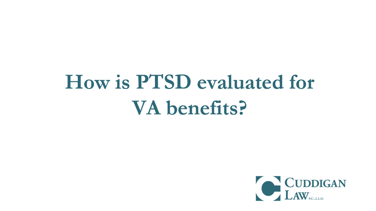 Your PTSD Symptoms Will Determine Your VA Disability Rating