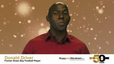 Donald Driver Wishes Hupy and Abraham, S.C. Happy 50th Anniversary!