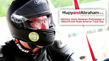 Motovid.com Track Day at Road America - Attorney Jason Abraham Rides a Sport Bike