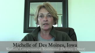 Des Moines, Iowa Driver Recommends Corey to Help with Work Injury