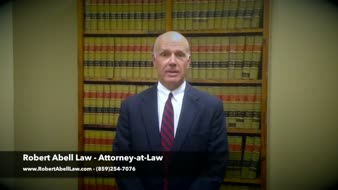 Lexington, Kentucky lawyer Robert Abell introduces his website